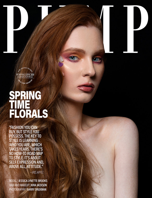 Pump Magazine, February 2020  Photo Credit: Barry Druxman  Makeup and Hair Credit: Kira Jackson  Los Angeles, California, United States