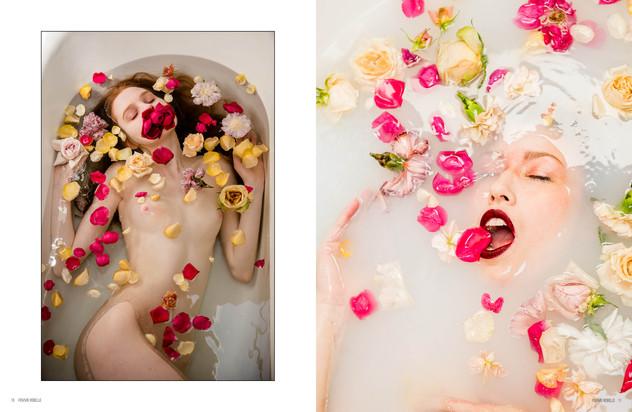 Femme Rebelle Magazine, July 2019  Photo Credit: Kara Cooper  Co Model: Veronic Kire  Flowers: Your Flower Friends  Portland, Oregon  2019