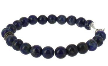 Lapis Lazuli bracelet pierres boules 8mm + Cristal de roche