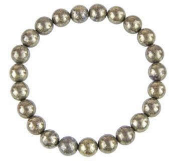 Pyrite  bracelet pierres boules 8mm