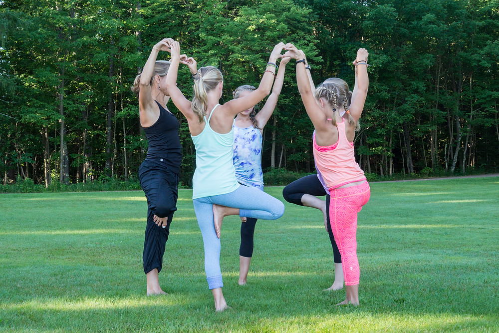 Margot Brinley - family yoga time!