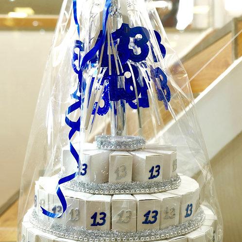 """סט """"עוגת"""" בר מצווה 5 קומות"""