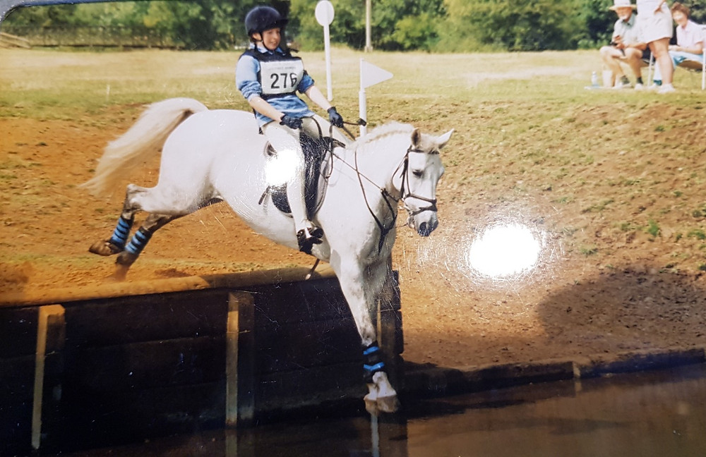 Myself competing at the Riding Club National Horse Trail Championships 2002