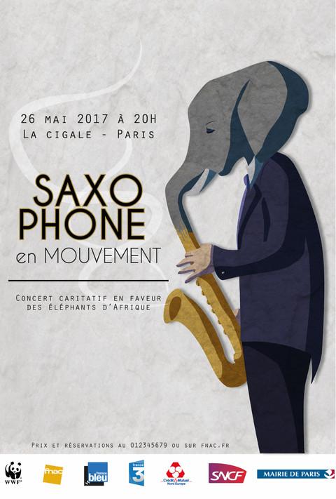 Saxophone en mouvement