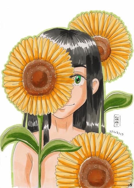 La fille aux tournesols