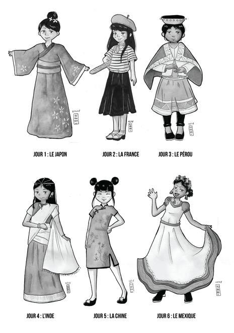 Inktober 2018 - Les petites filles du monde
