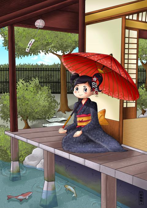 La petite japonaise dans sa maison