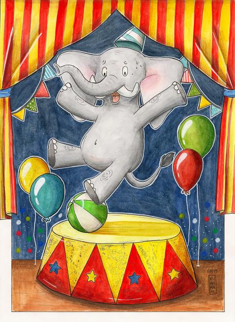 L'éléphant de cirque