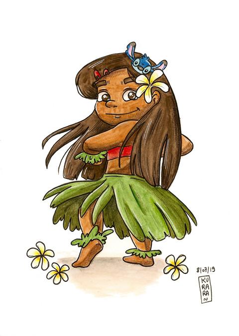 character Design Challenge Danceur Hawaiien