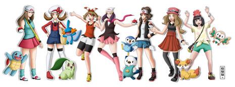 Les dresseuses Pokémon et leur starter