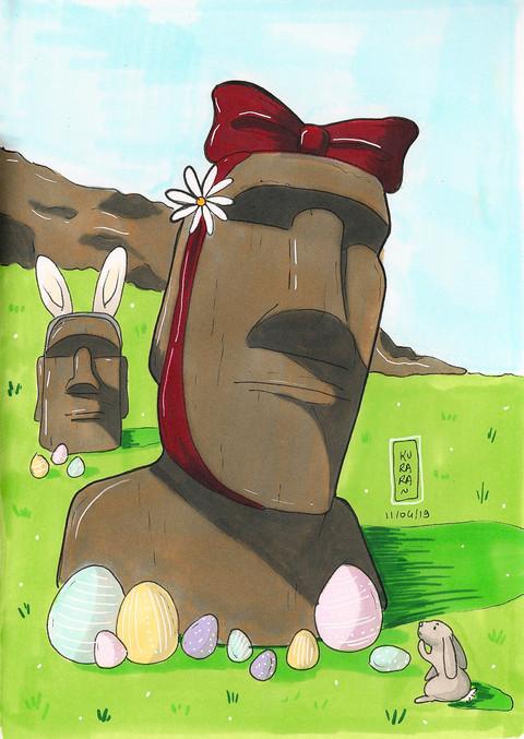 Les moais de Pâques