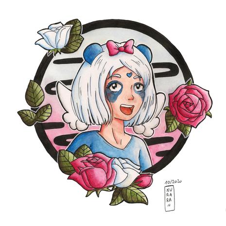 La fille aux roses