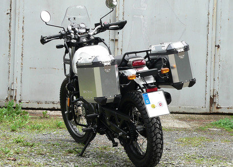 Royal Enfield Himalayan in der Vollausst