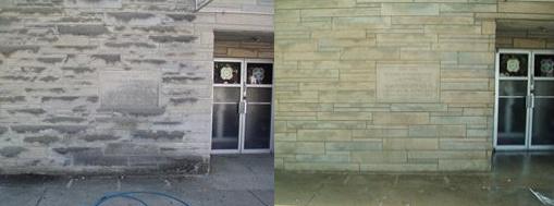 Quick's Powerwashing does limestone