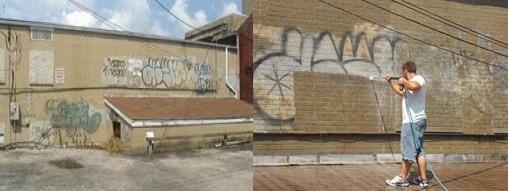 Quicks Powerwashing Handles Grafitti