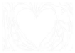 A4 Colour Me Prints- Love heart leaves g