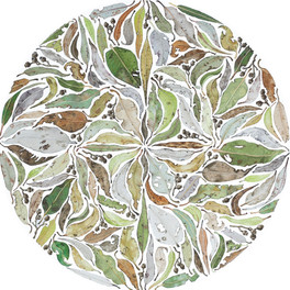 Gum Leaf Circle in Green