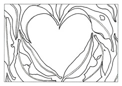 A4 Colour Me Prints- Love heart leaves.j