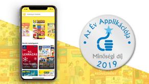 Az Év Applikációja Minőségi Díj 2019