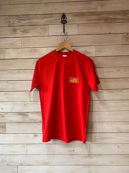 GOATco. −ADS S/S POCKET TEE -RED