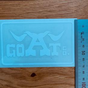 GOATco.カッティングシート 送料無料 サイズ: H65 X W110mm