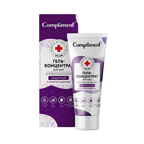 Compliment Гель-концентрат для рук Защитный с хлоргексидином антибактериальный..