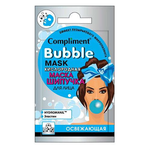 Compliment Cаше Bubble mask Кислородная маска-шипучка для лица освежающая, 7 мл