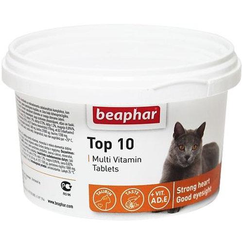 Beaphar Top 10 Витаминная добавка для нормализации обмена веществ у кошек и ко..