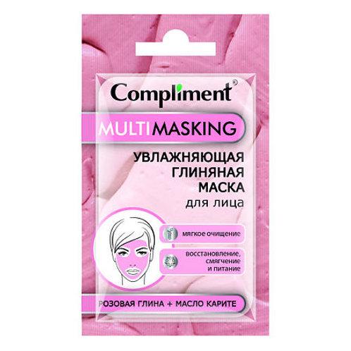 Compliment Multimasking увлажняющая маска для лица с розовой глиной и маслом к..
