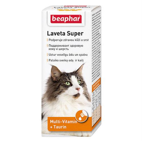Beaphar Laveta Super Витамины для поддержания здоровой кожи и шерсти у кошек, ..