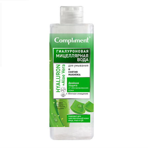 Compliment Гиалуроновая мицеллярная вода для умывания и снятия макияжа, 500 мл