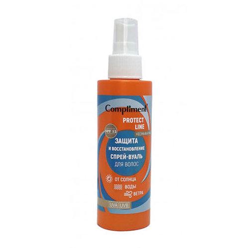 Compliment Protect Line Спрей-вуаль для волос Защита и восстановление от солнц..