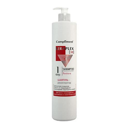 Compliment Keraplex [3D]  Шампунь – Реконструктор Для волос поврежденных механ..