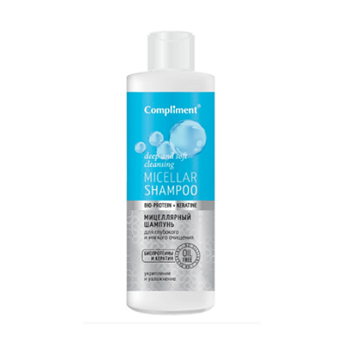 Compliment Bio-Protein+Keratin Мицеллярный шампунь для волос, 400мл
