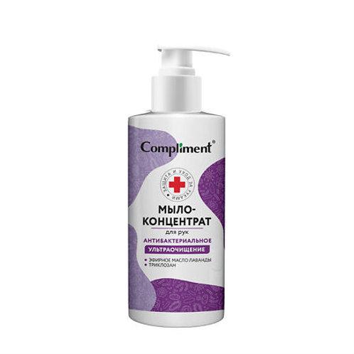 Compliment Мыло-концентрат для рук антибактериальное ультраочищение, 320 мл