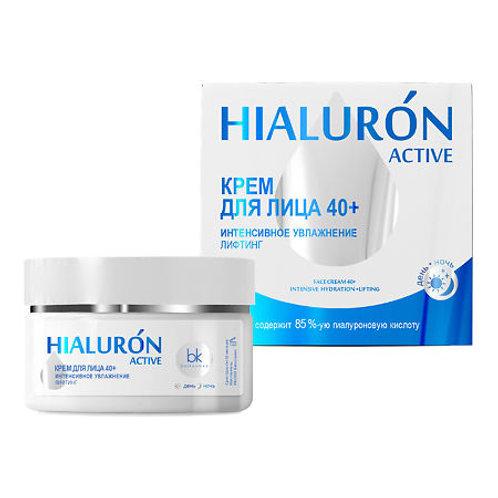 BelKosmex Hialuron Active Крем для лица 40+ интенсивное увлажнение лифтин, 48 г