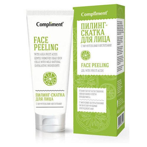 Compliment Пилинг-скатка для лица, с фруктовыми кислотами 80мл