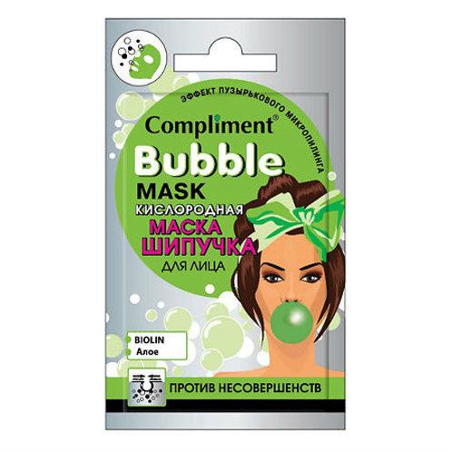 Compliment Cаше Bubble mask Кислородная маска-шипучка для лица против несоверш..