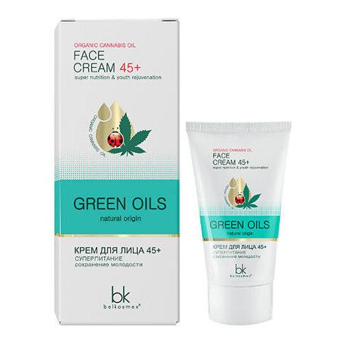 Belkosmex Green Oils Крем для лица 45+ суперпитание сохранение молодости, 40 г