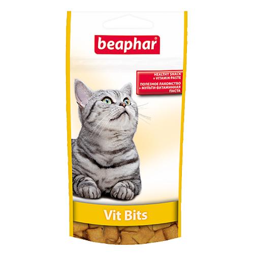 Beaphar Vit-Bits Подушечки с мультивитаминной пастой для кошек, 35 г