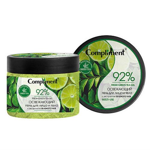 Compliment Освежающий гель для лица и тела с экстрактом зеленого чая, 400 мл