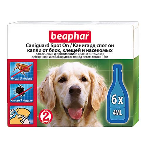 Beaphar Bio Stop On капли для собак крупных пород от блох, клещей и комаров, 6..