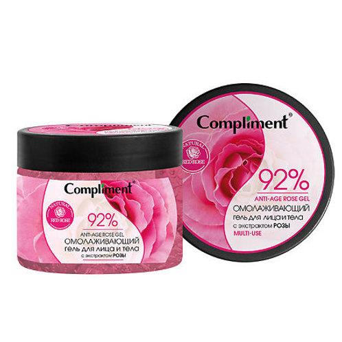 Compliment Омолаживающий гель для лица и тела с экстрактом розы, 400 мл