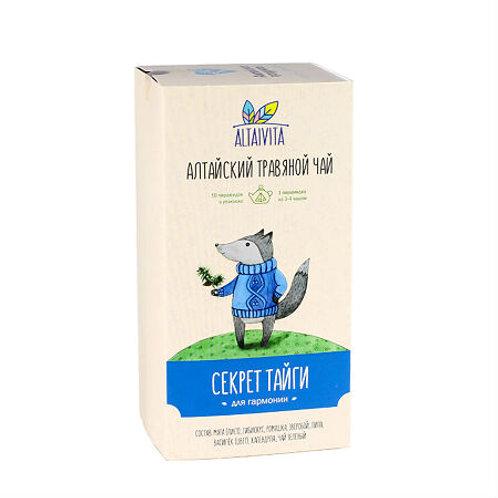 Altaivita Травяной чай Секрет тайги в пирамидках, 40 г
