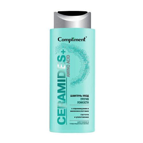 Compliment Ceramides+Amino Acid Шампунь-уход против ломкости для тонких и повр..