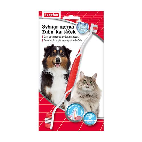 Beaphar Зубная щетка двойная для собак и кошек, 1 шт.