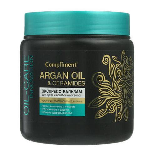 Compliment Argan Oil & Ceramides Экспресс-бальзам для сухих и ослабленных воло..