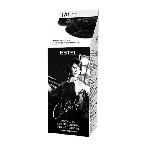 Estel Celebrity Краска-уход для волос тон 1/0 черный, 140 мл