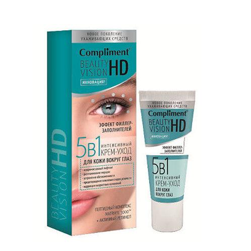 Compliment Beauty Vision HD Интенсивный крем-уход 5 в 1 для кожи вокруг глаз, ..