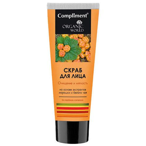 Compliment Organic World Скраб для лица Очищение и мягкость, 80мл